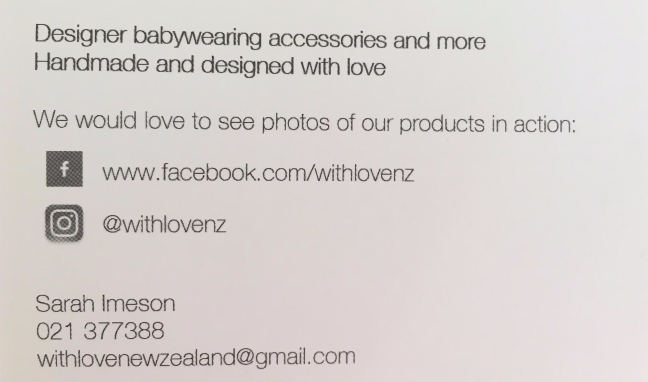 with love business card